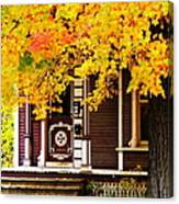 Fall Canopy Over Victorian Porch Canvas Print