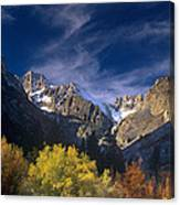 Fall Color Below Middle Palisades Glacier Eastern Sierras California Canvas Print