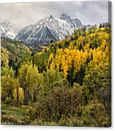 Fall Color In The Rockies Near Ouray Dsc07913 Canvas Print