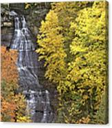 Fall Color Surrounds Chapel Falls On The Michigan Upper Peninsula Canvas Print