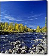 Fall Colors Along The Naches River Canvas Print