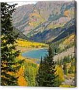 Fall Colors At Maroon Lake Canvas Print