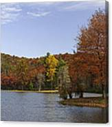 Fall Colors At Sherando Lake Canvas Print