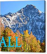 Fall Colors Cover Work Canvas Print