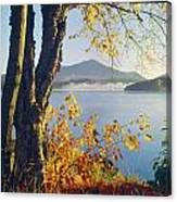 Fall Colors Frame Whiteface Mountain Canvas Print