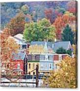Fall Colors In Columbia Pennsylvania Canvas Print