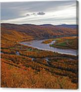 Fall Colors In The Arctic Canvas Print