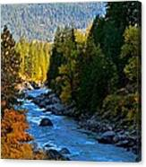 Fall Colors On The Wenatchee River Canvas Print