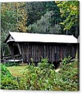 Fall Covered Bridge Canvas Print