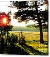 Fall Farm Sunrise 10 10 13 Canvas Print