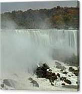 Fall Foliage At American Falls Panorama Canvas Print