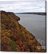 Fall Foliage On The New Jersey Palisades  Canvas Print