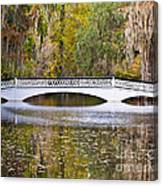 Fall Footbridge Canvas Print