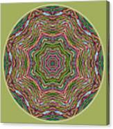 Fall Grass Mandala Canvas Print
