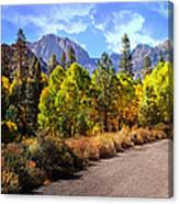 Fall Hiking In The High Sierras Canvas Print