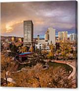 Fall In Downtown Reno Canvas Print