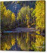 Autumn Reflections In Fort Mcmurray Canvas Print
