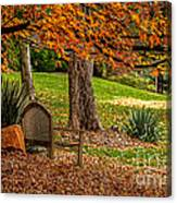 Fall In The Gardens Canvas Print