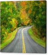 Fall Is Coming Country Road Canvas Print