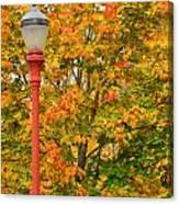 Fall Lamppost Canvas Print