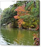 Fall Landscape Around The Lake 2 Canvas Print