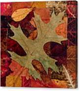 Fall Leaf Collage Canvas Print