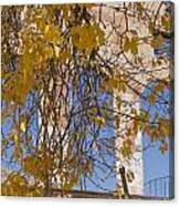 Fall Leaves On Open Windows Jerome Canvas Print