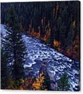 Lower Mesa Falls Canvas Print
