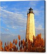Fall Morning At Lighthouse Point Canvas Print
