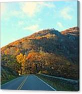 Fall Mountain Road Canvas Print
