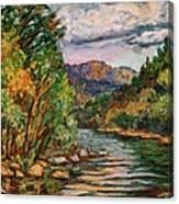 Fall New River Scene Canvas Print