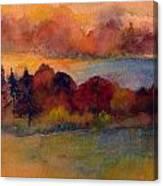 Fall On Lake Champlain Canvas Print