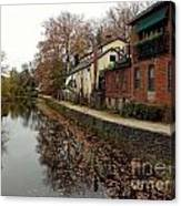 Fall On The Canal Canvas Print