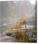 Fall On The River Canvas Print