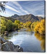 Fall On The Salt River  Canvas Print