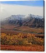 Fall Over Mountain Canvas Print
