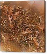 Fall Pinecones Canvas Print