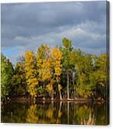 Fall Pond Reflection Canvas Print