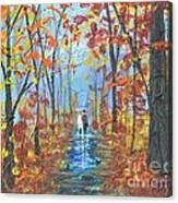 Fall Promenade  Canvas Print