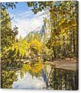 Fall Reflection In Yosemite Canvas Print