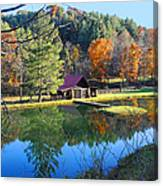 Fall Reflections At The Farm  Canvas Print