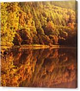 Fall Reflections. Loch Achray. Scotland Canvas Print