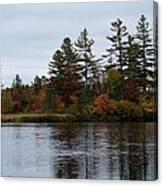 Fall River Colors Canvas Print
