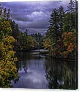 Fall River Scene Canvas Print