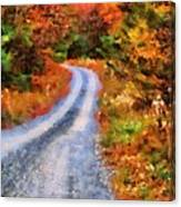 Fall Road To Paradise Canvas Print