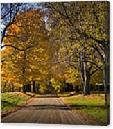 Fall Rural Country Gravel Road Canvas Print