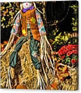 Fall Scarecrow Canvas Print