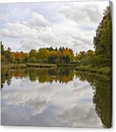 Fall Season By The Pond Canvas Print