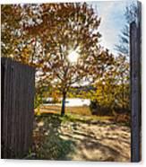 Fall Through The Gate Canvas Print