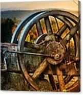 Fall Through The Wheels Canvas Print